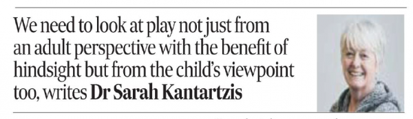 Let's support the kind of play our children want and need – The Scotsman, April 2021