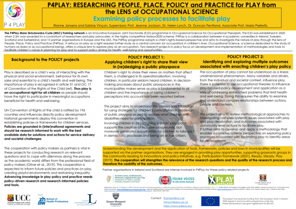 Conference poster: Examining policy processes to facilitate play